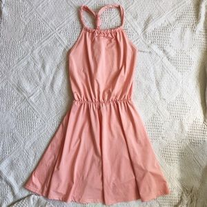 Tobi Peach Halter Dress